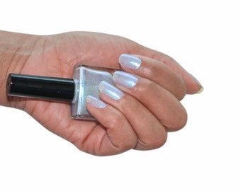 Wish Upon a Star Icy Blue Nail Polish with Micro Flakes