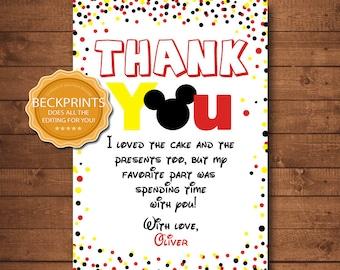 Mickey Thank You Etsy