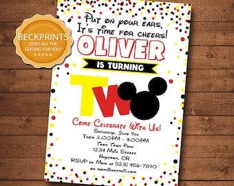 2nd birthday invite etsy mickey mouse invitations mickey mouse birthday invitation second birthday mickey invitations 2nd birthday invite birthday invitation filmwisefo