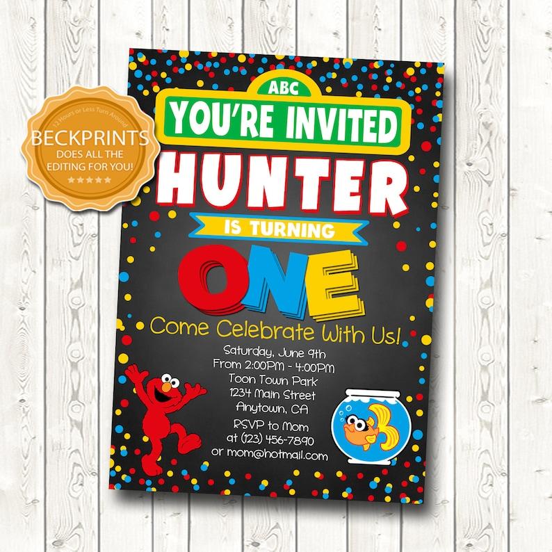 Elmo Birthday Invitation First Invitations
