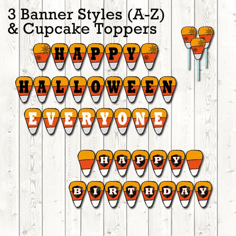 image relating to Printable Halloween Banners identify Halloween Banners, Printable Banner, Halloween Decorations, Social gathering Decorations,Sweet Corn Decorations,Sweet Corn Banners