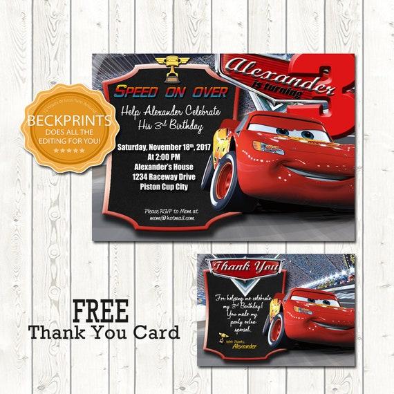 cars birthday invitations race car invitation digital etsy