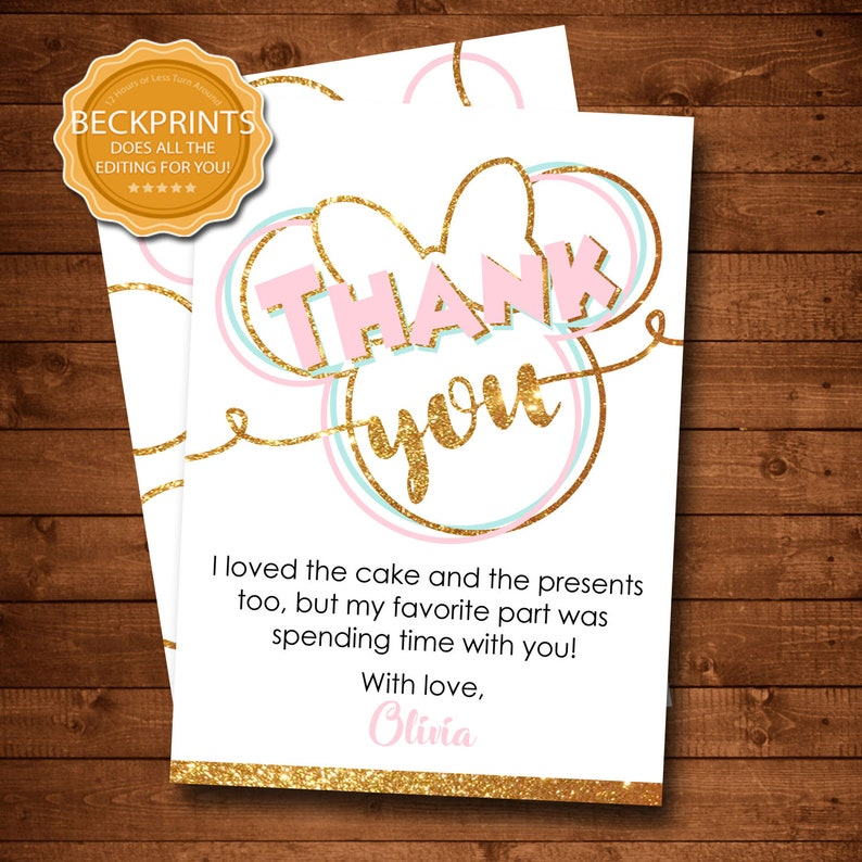 graphic relating to Minnie Mouse Birthday Cards Printable named Minnie Mouse Thank Oneself Card, Minnie Mouse Birthday Thank Oneself, Minnie Thank Your self Playing cards, Printable Thank Oneself Card, Electronic Thank Your self Card