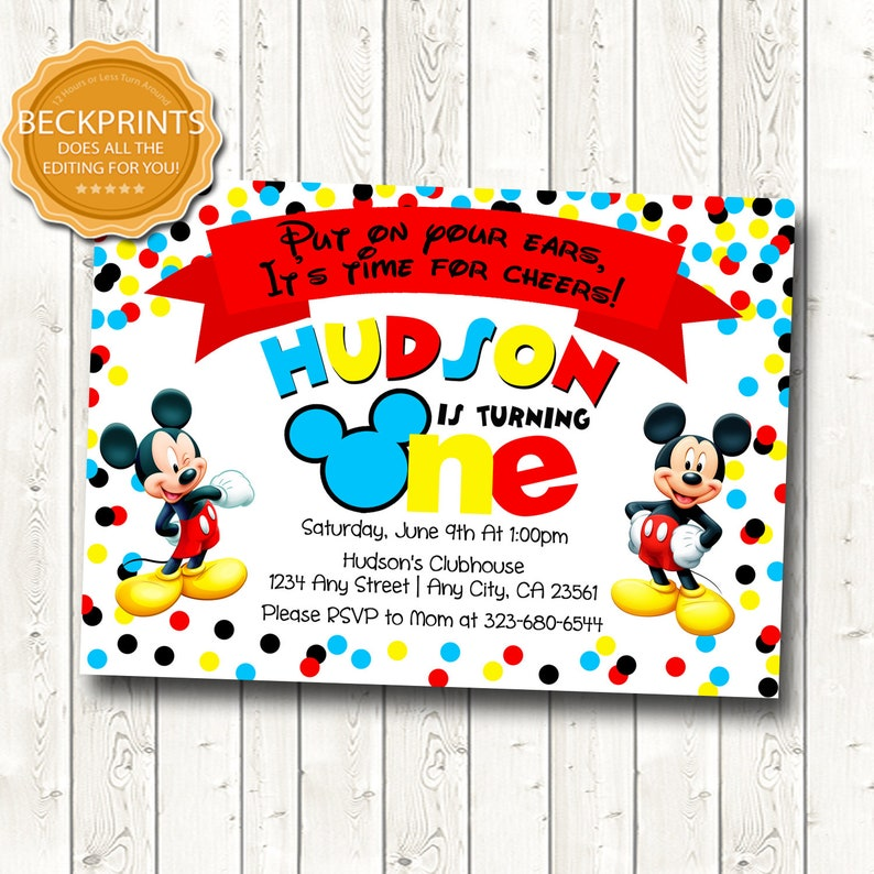 graphic regarding Mickey Mouse Printable Birthday Invitations identified as Mickey Mouse Invitation, Mickey Mouse Birthday, Mickey Mouse Birthday Invitation, Printable Invites, Very first Birthday Invitation