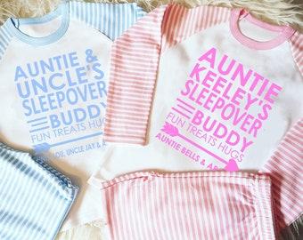 332c53b8e84d Personalised Auntie's Sleepover Buddy Auntie&Name PJs I Pyjamas I Auntie I  Niece I Newphew I Auntie I Family Matching I Gift I Christmas