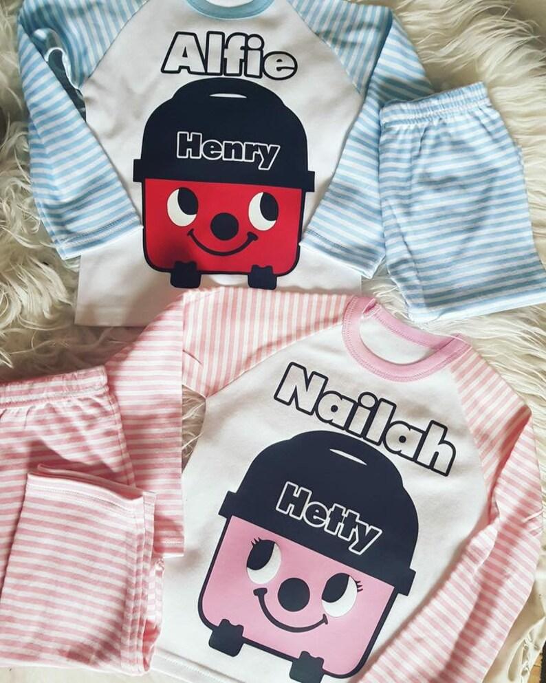 1f1ddc899 Henry   Hetty Hoover Personalised PJs I Pyjamas I Gift I