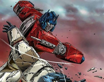 Transformers Optimus Prime Knock-Out Vintage Poster