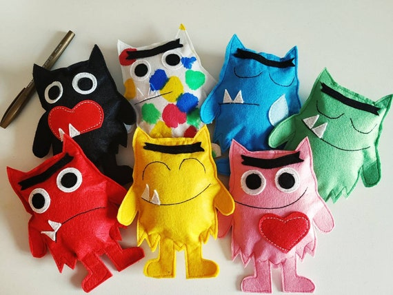 The Colour Monster Pack 7 Etsy
