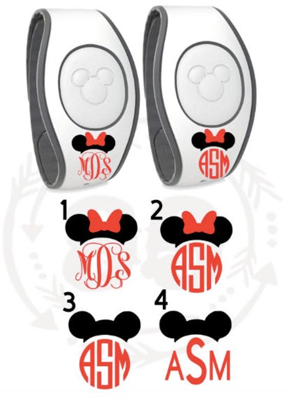 Custom Initials Disney Magic Band Decal