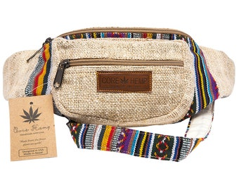Core Hemp Originals National Waist Pack Fanny Pack Sling Bag Hand Made 100% Hemp Hippy festivals boho