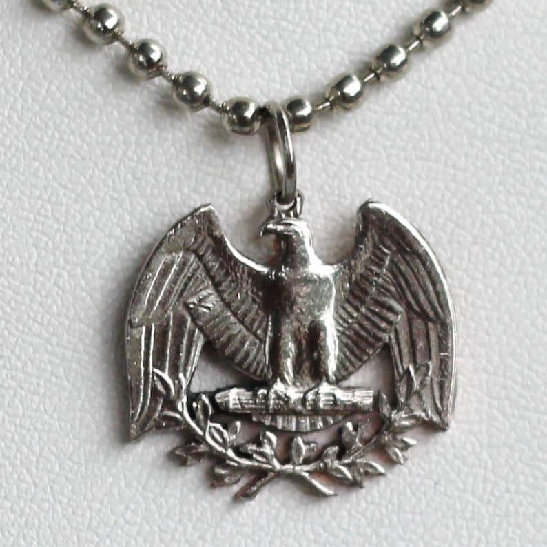 Washington Quarter USA US Patriotic American Eagle Cut Coin Jewelry