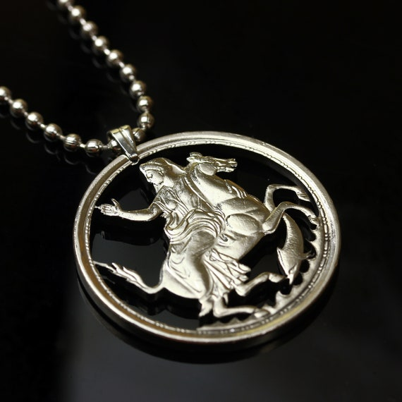 14K Yellow Gold-plated 925 Silver Pegasus Pendant Jewels Obsession Silver Pegasus Pendant