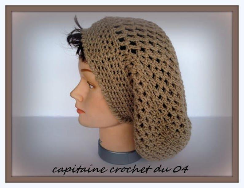 5a24c13b Dark beige winter Beanie loose Slouchy hat in wool/dread TAM / | Etsy