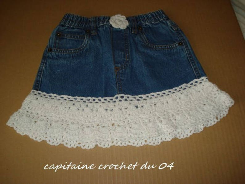 3-year-old girl  Skirt in jeans  recycled image 0