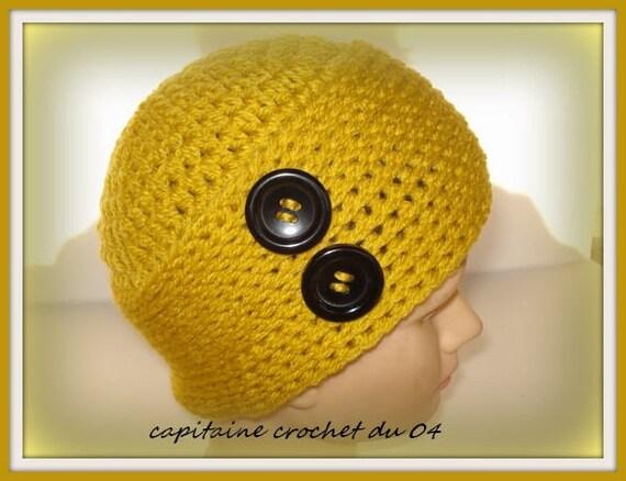 Bonnet en laine bonnet jaune moutarde bonnet femme  chapeau   Etsy 27fe6bdbc68