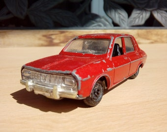 f4c9380ce8 Vintage Polistil car   Red Renault 12 TS   Metal Toy Car   Italian Toy Car    Collectible Car Made In Italy   Old Toy Car