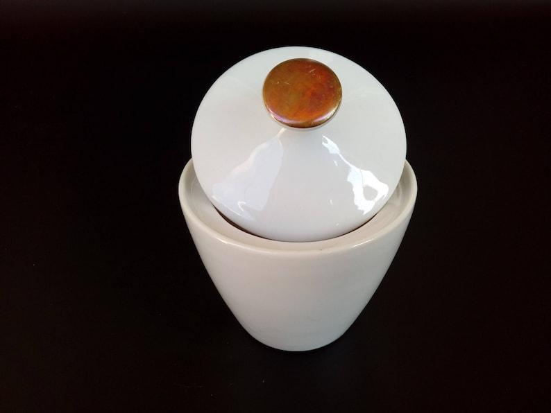 SELTMANN WEIDEN Porcelain Sugar Bowl  Mid Century Modern Sugar Pot  Retro Bavaria China Pot With Golden Lid  German China Bowl With Lid