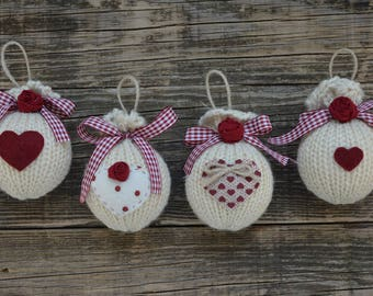 Country Style Christmas Balls