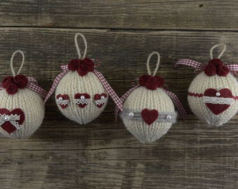"Christmas Balls ""Romantic Roses"""