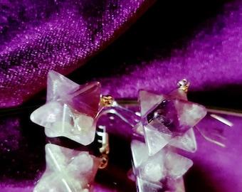 Merkaba Amethyst Earrings