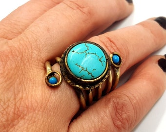 Vintage Antique Turquoise Ring