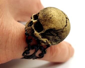 Human Skull Ring (Resin)