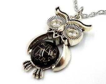 Sigil of Stolas Owl Necklace