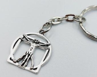 Vitruvian Man Keychain