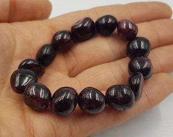Garnet Nugget Bracelet