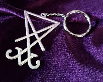 Luciferian Keychain (Big OR mini) - Lucifer Keychain Lightbringer Occult Left Hand Path Witch Black Magic Gothic