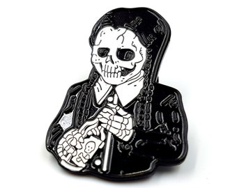 Wednesday Addams Poison Bottle Pin