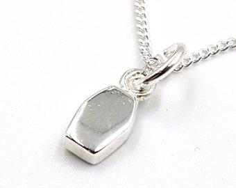 Sterling Silver Mini Coffin Pendant (925)
