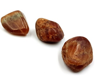 Hessonite Crystal Stones (4 different stones)