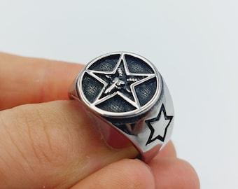 Baphomet Pentagram Ring