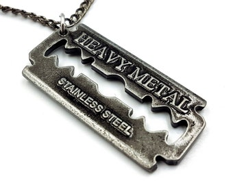 Heavy Metal Razorblade Necklace (3 Styles)