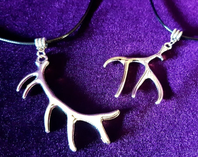 Antlers Pendant (2 styles) - Pan Cernunnos occult witch antler necklace