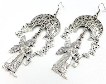 Luciferian Anunnaki Temple Earrings