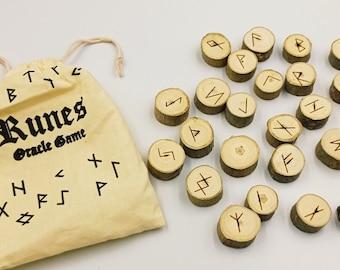 Wooden Runes Set