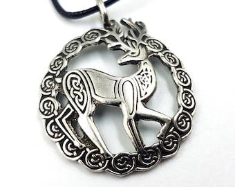 Celtic Stag Pendant (Eiré)