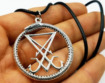 Sigil of Lucifer Ouroboros Pendant (2 Styles)