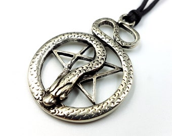 Pentacle of The Snake Pendant