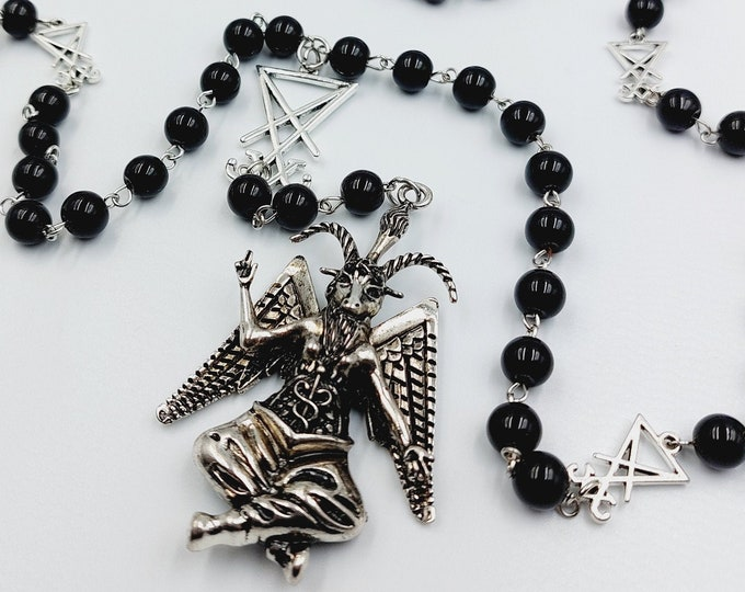 Featured listing image: Baphomet Rosary.
