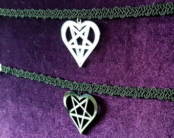 Lace Heart Chokers ( 2 Styles ).