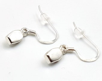 Sterling Silver Mini Coffin Earrings (925)