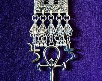 Vampire Ankh Jusa Necklace