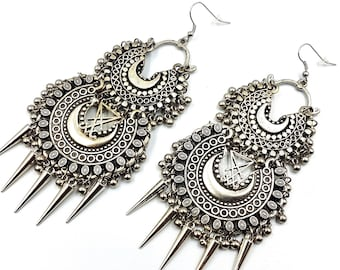 Luciferian Spike Earrings (Vintage)