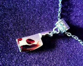 Bloody Cleaver Horror Pendant