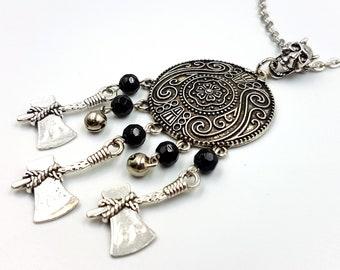 Viking Shieldmaiden Necklace (Triple Axe)