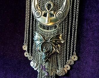 Trad Goth Bat Necklace
