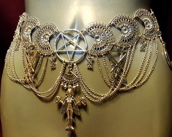 Lilith | Inanna | Ishtar Hip Chain Belt